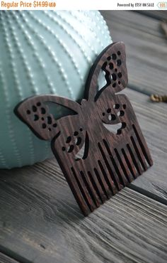 ON SALE Butterfly wooden comb for woman Hair comb Gift idea for Women Mom Friend Wife