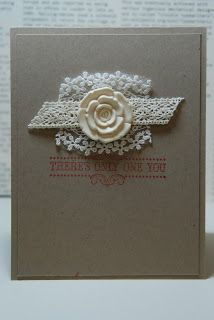 Stampin' Up! Card...Spring Catalog...Supplies: Artisan Embellishment Kit,  Vintage Verses Clear Mount Stamp Set; Annual Catalog: Crumb Cake Card Stock and   Raspberry Ripple Classic Ink