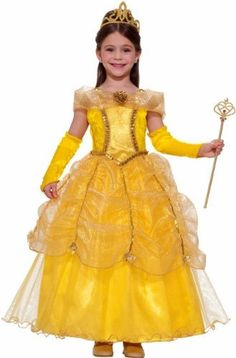 "Child Drum Majorette Costume (baton not included) Private Label. $32.88. Small 4-6 Child, Medium 8-10 Child and Large 12-14 Child. She's the ""Belle"" of the Ball in this gorgeous, but affordable Yellow Ball Costume Gown. Includes Dress & Gloves. Wand and Tiara not included"