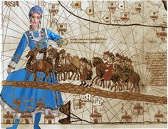 Marco Polo y el dulce encargo del emperador, el traslado de la princesa Kököchin al Ilkanato de Persia. Kublai Khan, Marco Polo, Princess Zelda, Fictional Characters, Art, Historia, Emperor, Venice, Sweet