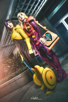 Go Go Tomago (left) and Honey Lemon (right) from Big Hero 6 / Cosplayers: Alodia Gosiengfiao (Go Go Tomago) and Ashley Gosiengfiao (Honey Lemon) Photographer: Saffels Photography