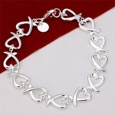 Hot Fine Solid 925 Sterling Jewelry silver Christmas gifts charm Women Bracelets in Jewellery & Watches, Fine Jewellery, Fine Bracelets | eBay