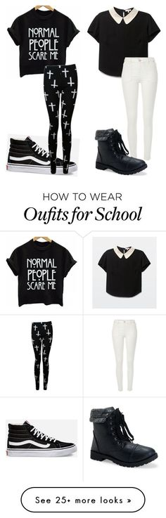 """""""Jasmine and I school outfits"""" by mimialcaraz on Polyvore featuring River Island, Aéropostale and Vans"""