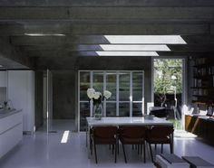 Skylights in the kitchen of Covert House exude both light and warmth.