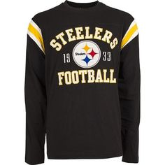 Show your team pride in this Pittsburgh Steelers premium heavyweight long  sleeve t-shirt. Own the perfect tee to wear while watching your favorite  NFL team ... d12df3ff7