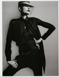 Vogue Paris by David Sims, styled by Joe McKenna, model Nadja Bender - excellent structure from the model