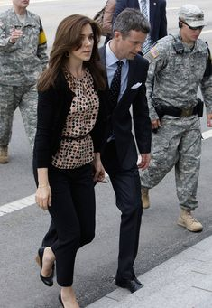 13 May 2012 - State visit in South Korea - Mary and Frederik visit the border village of panmunjom between South and North Korea in the demilitarized zone (DMZ) (day 4)