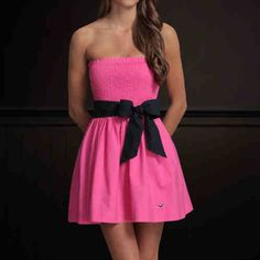 my hot pink hollister dress for the dance . Bit longer than this would be AWESOME