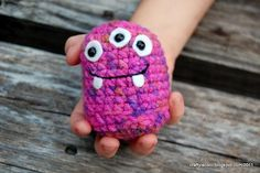 Purple Stitch Project Monster Amigurumi