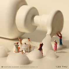 A surreal miniature world. miniature photography - small world and tiny people