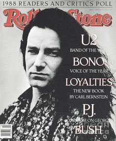 Bono Rolling Stone Magazine cover, March 8, 1989