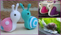 DIY Crochet Snail Amigurumi Free Patterns  #Crochet, #Toy
