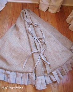 Burlap tree skirt!!!