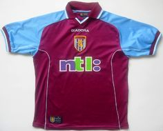 I think that I have this one, although I can't be bothered to go into the attic to check. If so, then this must be the most recent Villa shirt I own. Classic Football Shirts, Vintage Football Shirts, Attic, Retro Vintage, Villa, Soccer, Check, Tops, Fashion