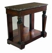 Empire mirrored console with herm supports Ca1800 France.
