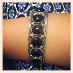 This Native American Onyx Cuff acts as the perfect anchor for your summer prints! http://www.silvertribe.com