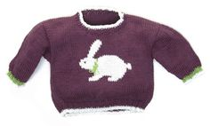 Bunny Pullover by Gail Pfeifle, Roo Designs - Available on Ravelry and our website at: http://www.dublinbay.net/cgi-bin/commerce.cgi?preadd=action&key=3588