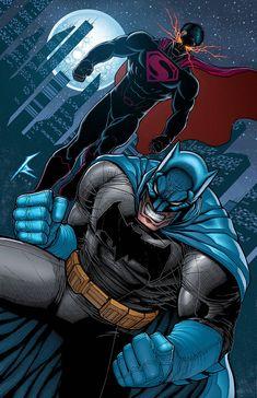 Batman v Superman - Visit to grab an amazing super hero shirt now on sale! Batgirl, Nightwing, Comic Book Heroes, Comic Books Art, Comic Art, Hq Marvel, Univers Dc, Batman Artwork, Arte Dc Comics