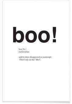 The boo interjection - Matěj Kašpar Jirásek - Premium Poster