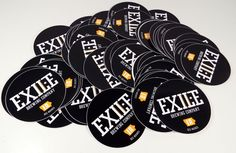 """New 90 Piece Lot Exile Brewing Company 4"""" Stickers Des Moines Iowa"""