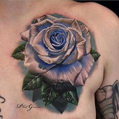 Birth Month Flower Tattoo Ideas & Meaning Tatoo Rose, White Rose Tattoos, Blue Tattoo, Color Tattoo, Dream Tattoos, Body Art Tattoos, Sleeve Tattoos, Tatoos, Female Tattoos