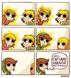 "ZELDA: EXCUUUUSE ME, PRINCESS! (8.5""x11"")"