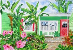 Butterfly House watercolor