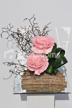 Large Pink Fresh Touch Roses Table Flower Arrangement #home #flowers #pink