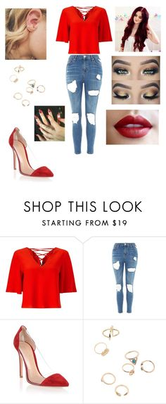 """Untitled #3222"" by vanessa898 ❤ liked on Polyvore featuring Miss Selfridge, Topshop and Gianvito Rossi"