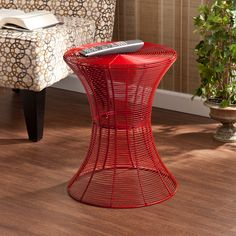 Kayden Indoor/ Outdoor Red Metal Accent Table | Overstock.com