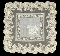 1875-1899, France - Linen handkerchief