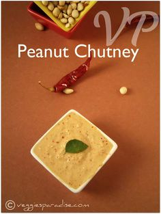 A simple and tasty chutney with peanut and coconut. This goes very well with Idli's and crispy Dosa's. Chutney Varieties, Indian Food Recipes, Vegetarian Recipes, Peanut Chutney, Good Food, Yummy Food, Delicious Recipes, Coconut Desserts, Peanut Recipes