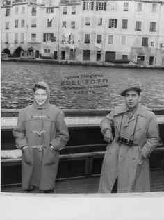 Humphrey Bogart e Lauren Bacall a Portofino. (Foto: 1954, Publifoto)