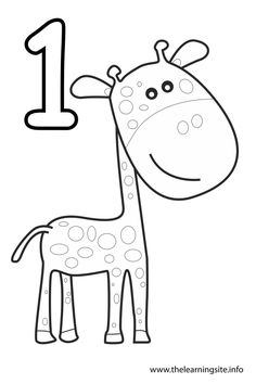 number 1 coloring pages 05    Pinterest  Coloring
