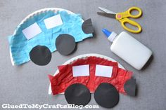 Paper Plate Cars &  Police Cars {Kid Craft}