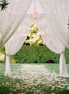 Wedding Ideas: fabric-canopy-tent-wedding-ceremony