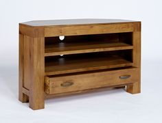 Dark Oak Corner TV Unit from Big Blu Furniture