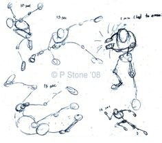 Sketching character poses in wireframe