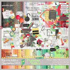 """Free """"Back to School"""" scrapbook large collab freebie from Digiscrap Addict"""