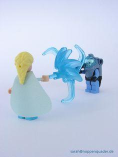 lego minifig noppenquader moc minidoll disney elsa frozen eisprinzessin batman Mr. Freeze Eis Ice duel