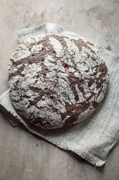 Rustic rye sourdough bread