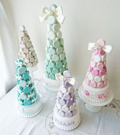 Bridal Shower Snacks, Macaron Tower, 21st Party, Macaroons, Yahoo, Bright, Colorful, Merengue, Sweet Treats