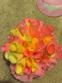 Coral made out of coffee filters :)