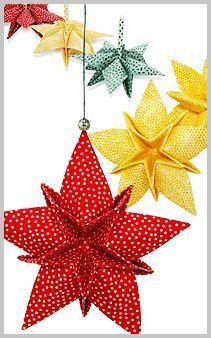 New Origami Decoration Kirigami Christmas Ornament Ideas Folded Fabric Ornaments, Origami Ornaments, Quilted Christmas Ornaments, Christmas Origami, Paper Ornaments, Christmas Sewing, Christmas Projects, Fun Projects, Fabric Christmas Decorations