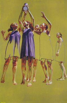Por amor al arte: Cristina Troufa Figure Painting, Figure Drawing, Painting & Drawing, Painting Abstract, Acrylic Paintings, Abstract Portrait, Cristina Troufa, Figurative Kunst, Kunst Online