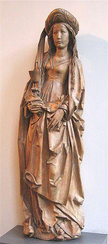 Tilman Riemenschneider, Heilige Barbara, um 1510, Bayerisches Nationalmuseum (Thx Seulete)