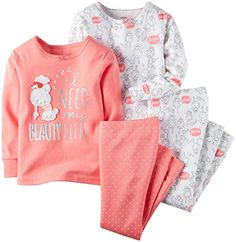 Carters Baby Girls 4 Piece PJ Set Baby  Poodle  6 Months *** You can find more details by visiting the image link.