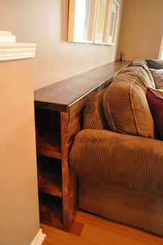 So convenient. Have thought of this many a plenty a timesss DIY couch console table inspired by Young House Love.