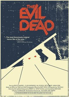 """The Evil Dead"" vintage style 5X7 print.  http://www.etsy.com/listing/63847156/the-evil-dead-vintage-style-5x7-print"