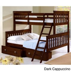 Donco Kids Donco Kids Twin over Full Futon Bunk Bed with Storage Finish: Twin Full Bunk Bed, Girls Bunk Beds, Futon Bunk Bed, Kid Beds, Loft Beds, Espresso, Kids Beds With Storage, Under Bed Drawers, Bunk Beds With Stairs